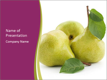 Three Ripe Pears PowerPoint Templates - Slide 1