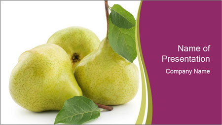 Three Ripe Pears PowerPoint Template