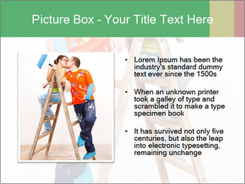Couple Paints Walls Together PowerPoint Template - Slide 13