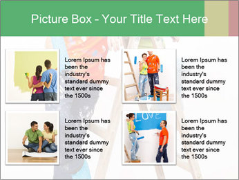 Couple Paints Walls Together PowerPoint Template - Slide 14