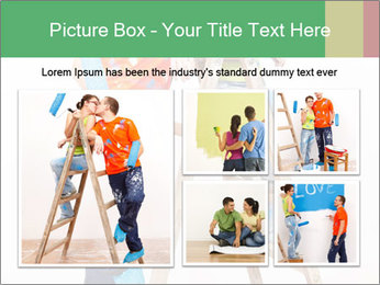 Couple Paints Walls Together PowerPoint Template - Slide 19