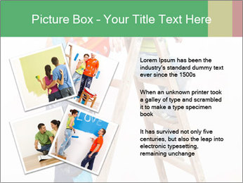 Couple Paints Walls Together PowerPoint Template - Slide 23