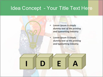 Couple Paints Walls Together PowerPoint Template - Slide 80