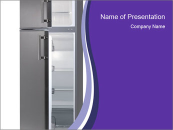 Black Fridge PowerPoint Template - Slide 1