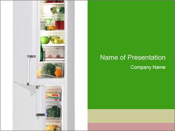 Stocked Fridge PowerPoint Template - Slide 1