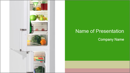 Stocked Fridge PowerPoint Template