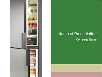 Open Fridge PowerPoint Templates - Slide 1