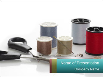 Scissors and Bobbins PowerPoint Template - Slide 1