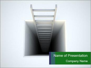 Ladder from Underground PowerPoint Template - Slide 1