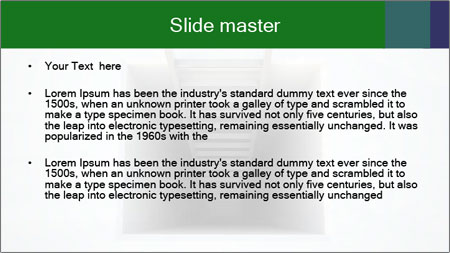 Ladder from Underground PowerPoint Template - Slide 2