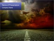 Dramatic Sky on the Horizon PowerPoint Templates