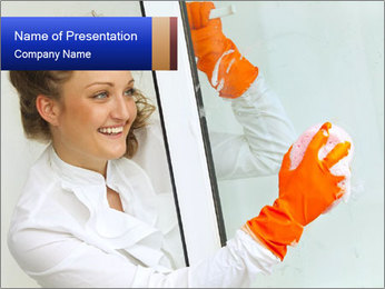 Window Cleaning PowerPoint Template - Slide 1