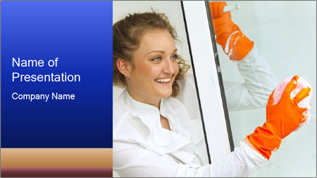 Window Cleaning PowerPoint Template