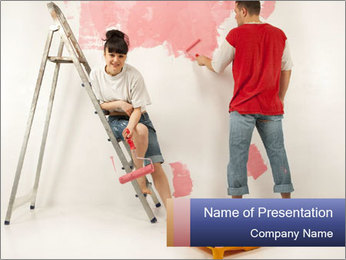 Family Painiting Walls PowerPoint Templates - Slide 1
