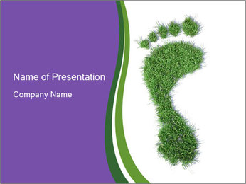 Eco Foot Print PowerPoint Template