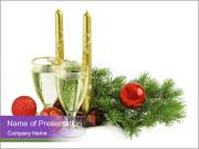 Champagne and Candles PowerPoint Templates