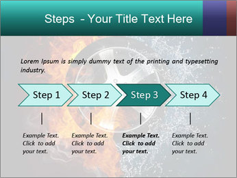 Water and Fire Over Wheel PowerPoint Templates - Slide 4