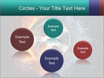Water and Fire Over Wheel PowerPoint Templates - Slide 77