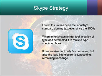 Water and Fire Over Wheel PowerPoint Templates - Slide 8