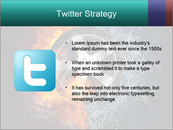 Water and Fire Over Wheel PowerPoint Templates - Slide 9