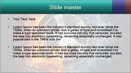 Water and Fire Over Wheel PowerPoint Template - Slide 2