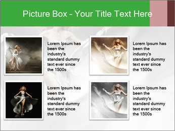 Stunning Woman in Silk Dress PowerPoint Template - Slide 14