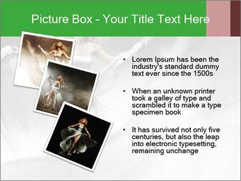 Stunning Woman in Silk Dress PowerPoint Template - Slide 17