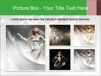Stunning Woman in Silk Dress PowerPoint Template - Slide 19