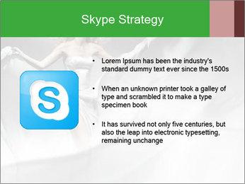 Stunning Woman in Silk Dress PowerPoint Template - Slide 8
