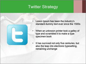 Stunning Woman in Silk Dress PowerPoint Template - Slide 9