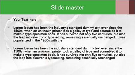 Stunning Woman in Silk Dress PowerPoint Template - Slide 2