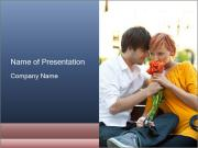 Flowers for the First Date PowerPoint Templates