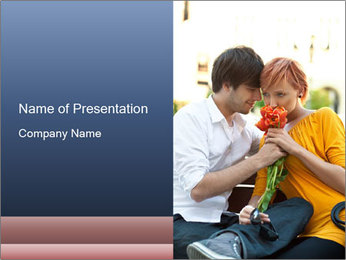 Flowers for the First Date PowerPoint Template - Slide 1