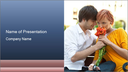 Flowers for the First Date PowerPoint Template