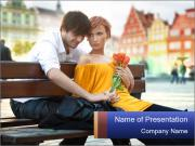 German Couple Dating PowerPoint Templates