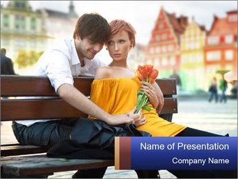 German Couple Dating PowerPoint Template - Slide 1