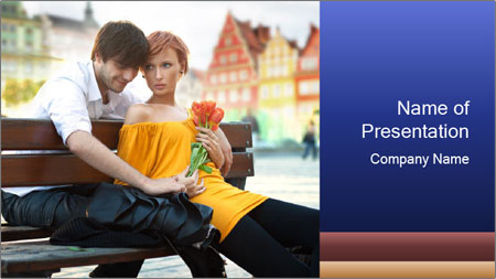 German Couple Dating PowerPoint Template
