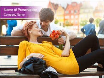 Romantic Dating PowerPoint Template - Slide 1