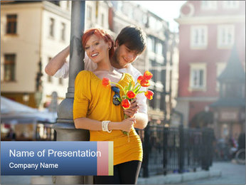 Romantic First Date PowerPoint Template - Slide 1