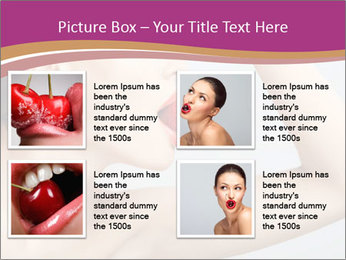 Sweet Strawberry in Woman's Mouth PowerPoint Template - Slide 14