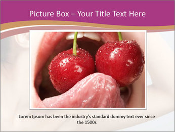 Sweet Strawberry in Woman's Mouth PowerPoint Template - Slide 15