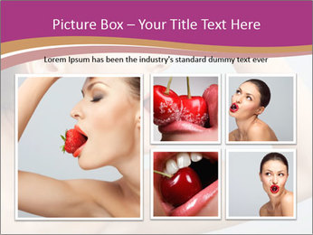 Sweet Strawberry in Woman's Mouth PowerPoint Template - Slide 19