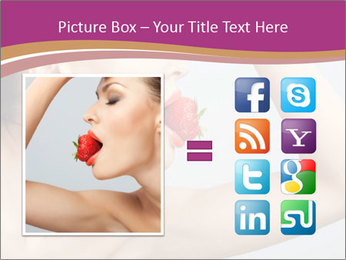 Sweet Strawberry in Woman's Mouth PowerPoint Template - Slide 21