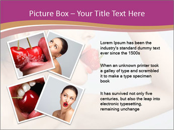 Sweet Strawberry in Woman's Mouth PowerPoint Template - Slide 23