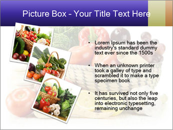 Raw Fruits and Vegetables PowerPoint Template - Slide 17