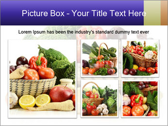 Raw Fruits and Vegetables PowerPoint Template - Slide 19