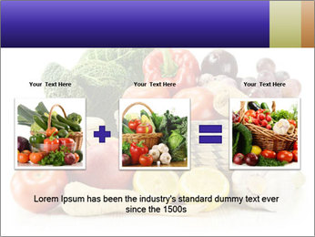 Raw Fruits and Vegetables PowerPoint Template - Slide 22