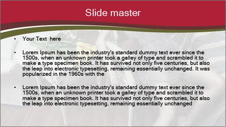 Model and Luxury Bedroom PowerPoint Template - Slide 2
