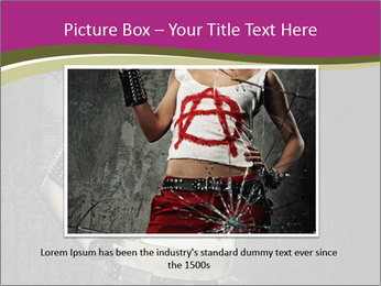 Crazy Punk Girl PowerPoint Templates - Slide 15