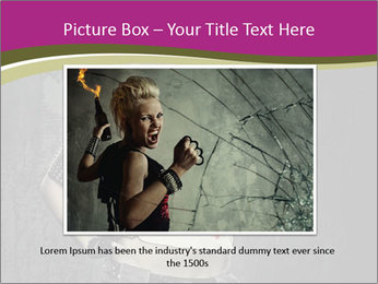 Crazy Punk Girl PowerPoint Templates - Slide 16